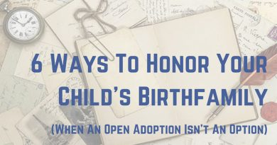 6 Ways To Honor Your Child's Birthfamily (When You Don't Have An Open Adoption)